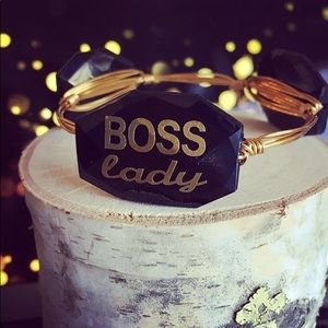 "Handmade ""Boss Lady"" bangle bracelet"